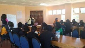 Ms. Mwaba presenting on Protection